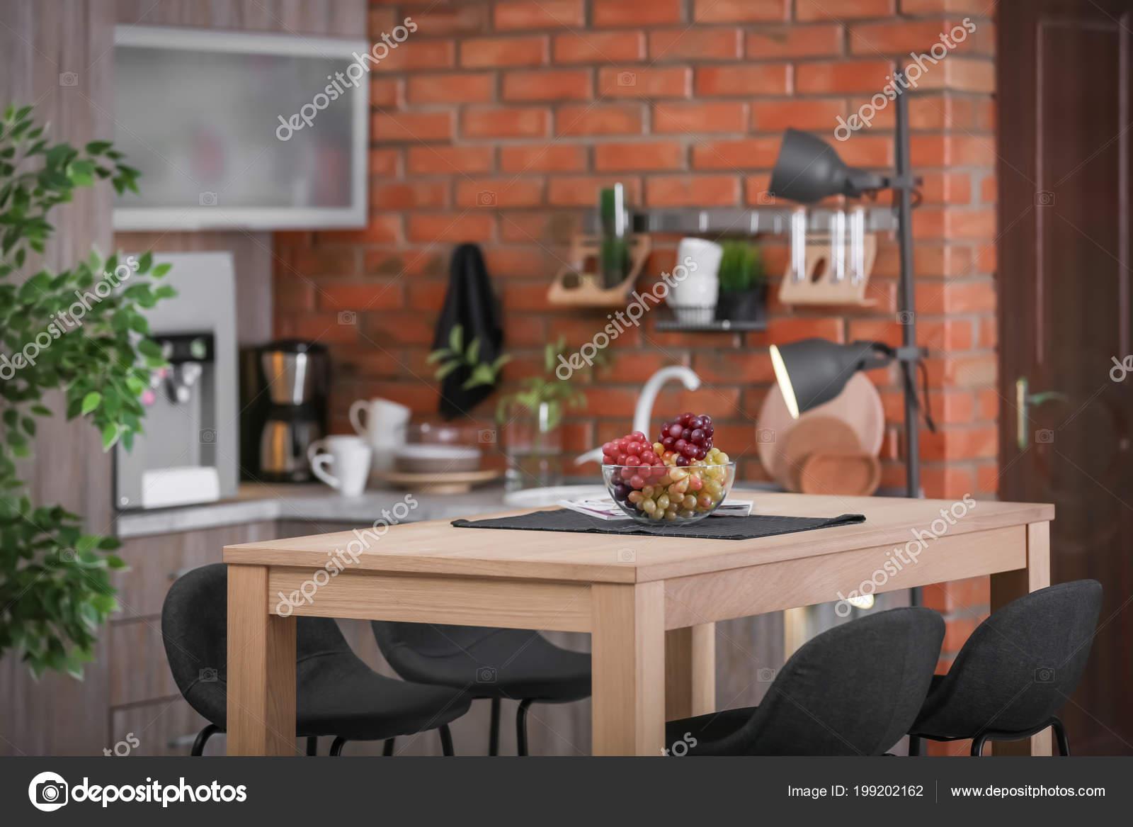 Stylish kitchen interior in apartment. Idea for home design 12