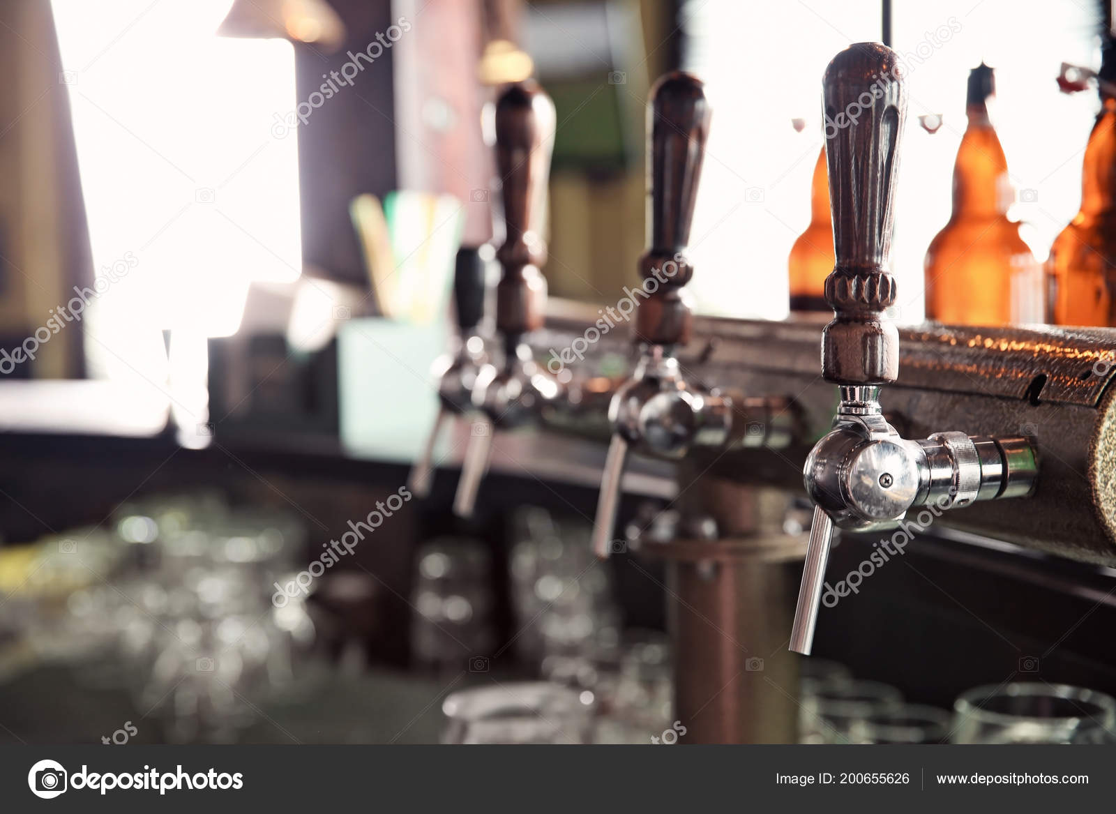 Beer Taps At Counter In Modern Bar U2014 Photo By Liudmilachernetska@gmail.com
