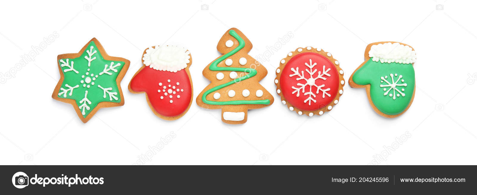 Tasty Homemade Christmas Cookies White Background — Stock Photo ...