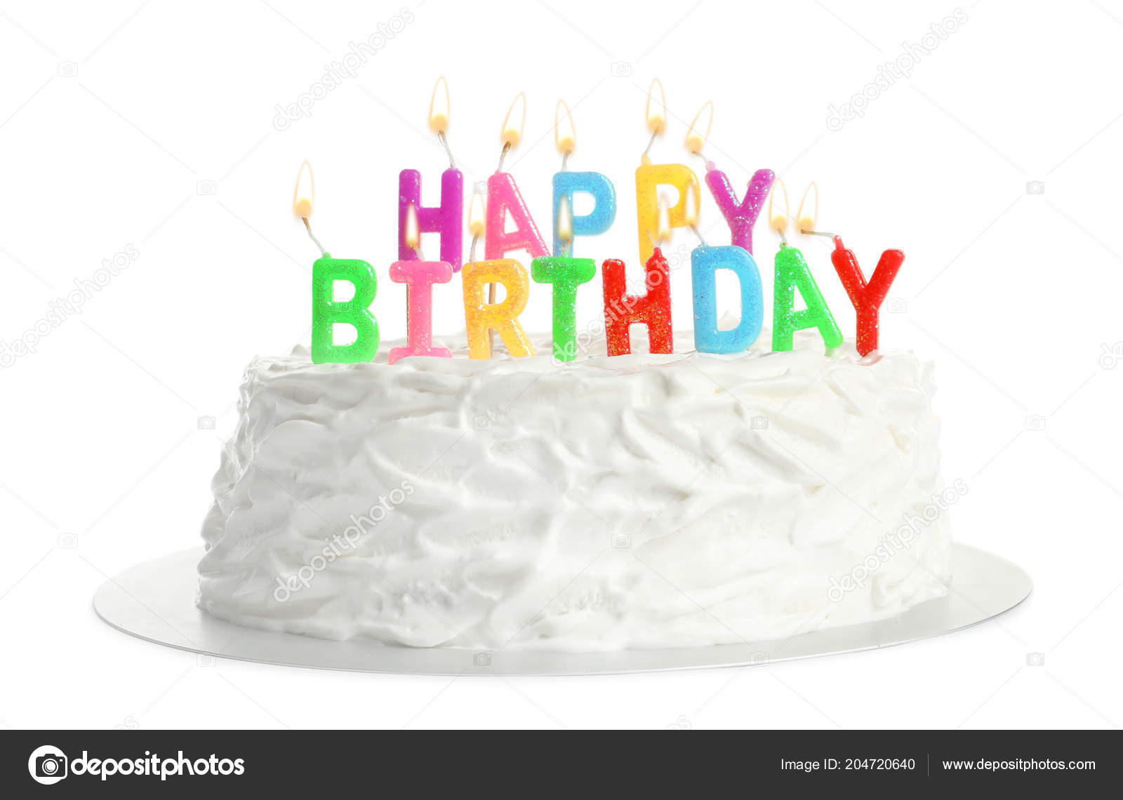Phenomenal Birthday Cake Candles White Background Stock Photo Funny Birthday Cards Online Elaedamsfinfo
