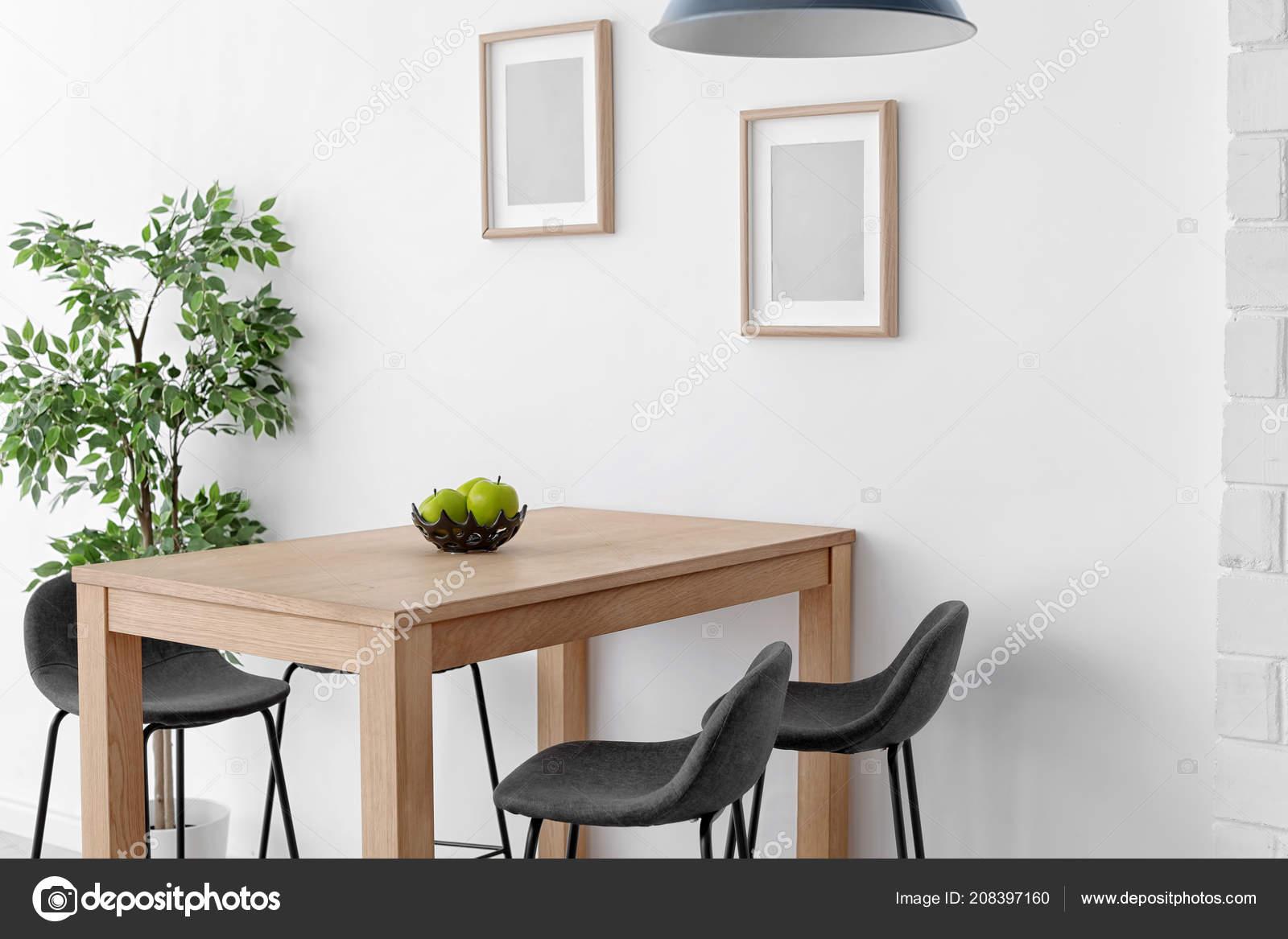 Stilvollen Speisesaal Innen Home Design Idee — Stockfoto ...