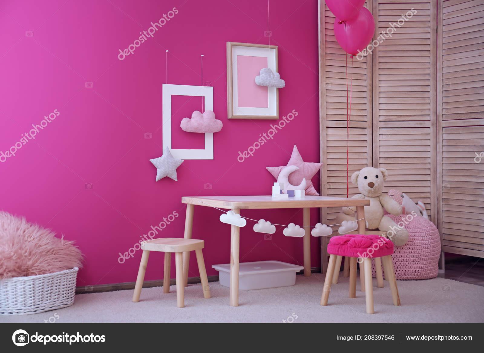 Modern Interior Child Game Room Table Chairs Toys Stock Photo C Liudmilachernetska Gmail Com 208397546