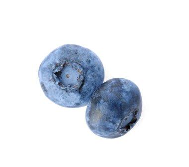 Fresh ripe blueberries on white background. Organic berry