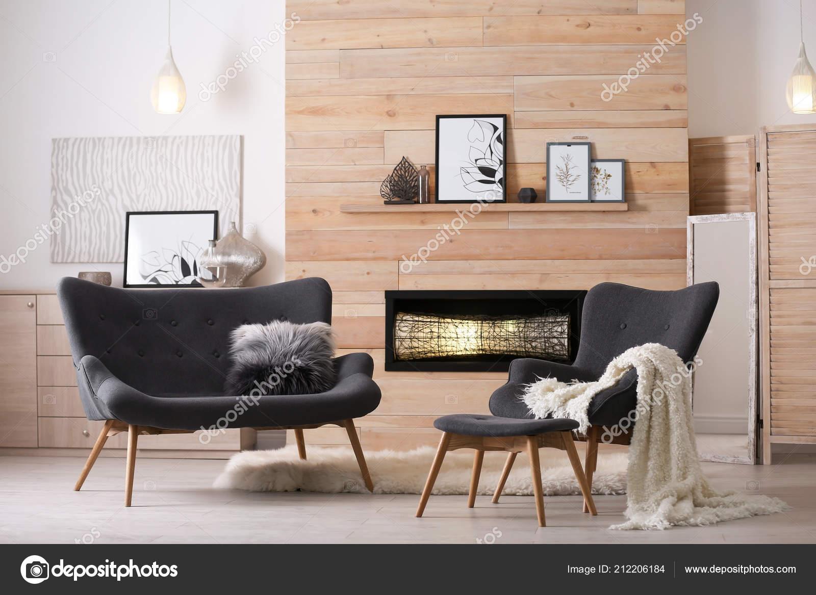 Cozy Living Room Interior Comfortable Furniture Decorative ...