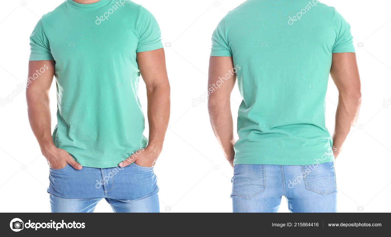 teal shirt back