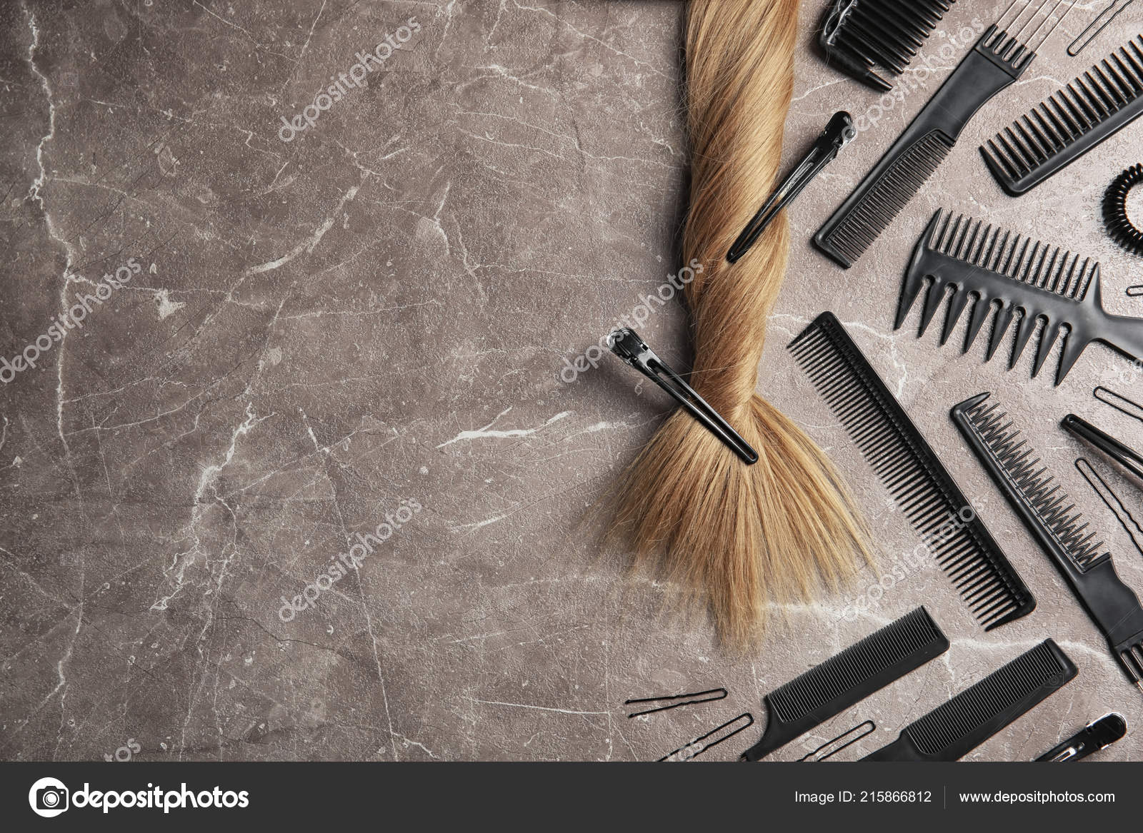 flat lay composition hair salon tools grey background space text ⬇ stock  photo, image by © newafrica #215866812  depositphotos