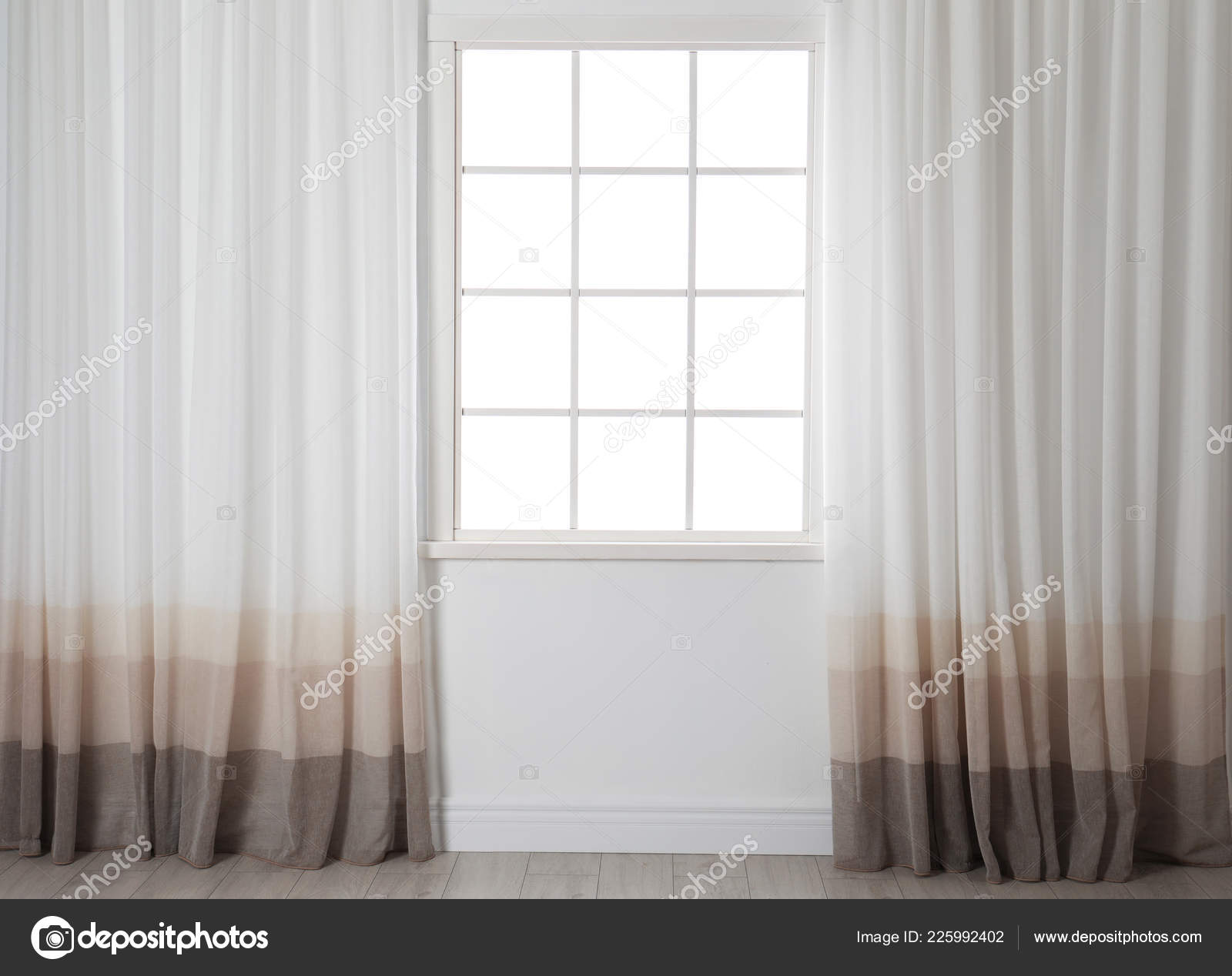 modern window treatments for living room bedroom modern window curtains living room home interior stock photo