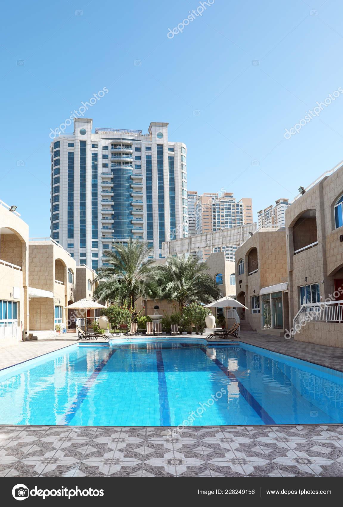 Modern Luxury Hotel Swimming Pool Sunny Day Stock Editorial Photo
