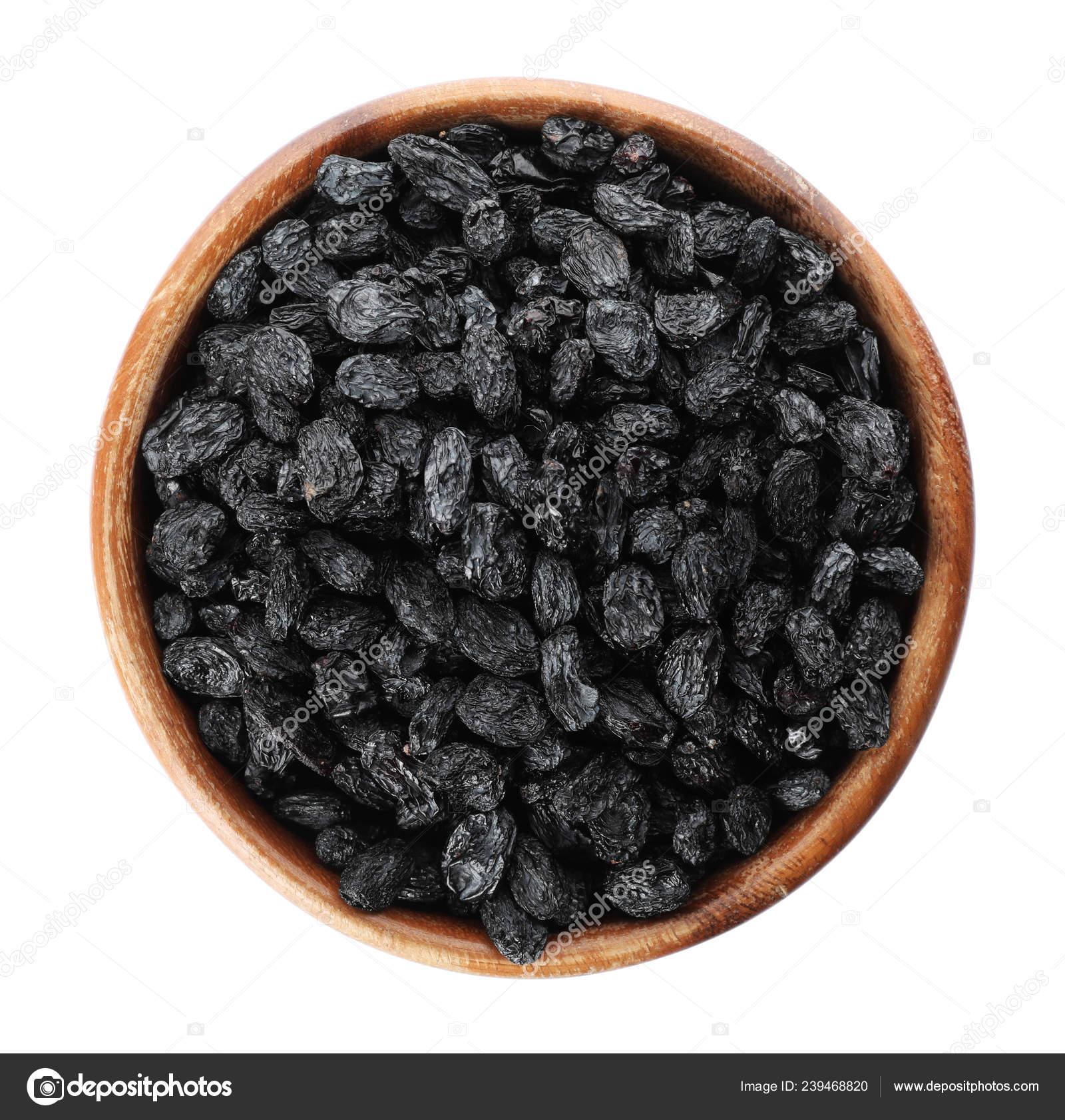Bowl Dried Dark Raisins Isolated White Top View Healthy Nutrition Stock Photo C Liudmilachernetska Gmail Com 239468820