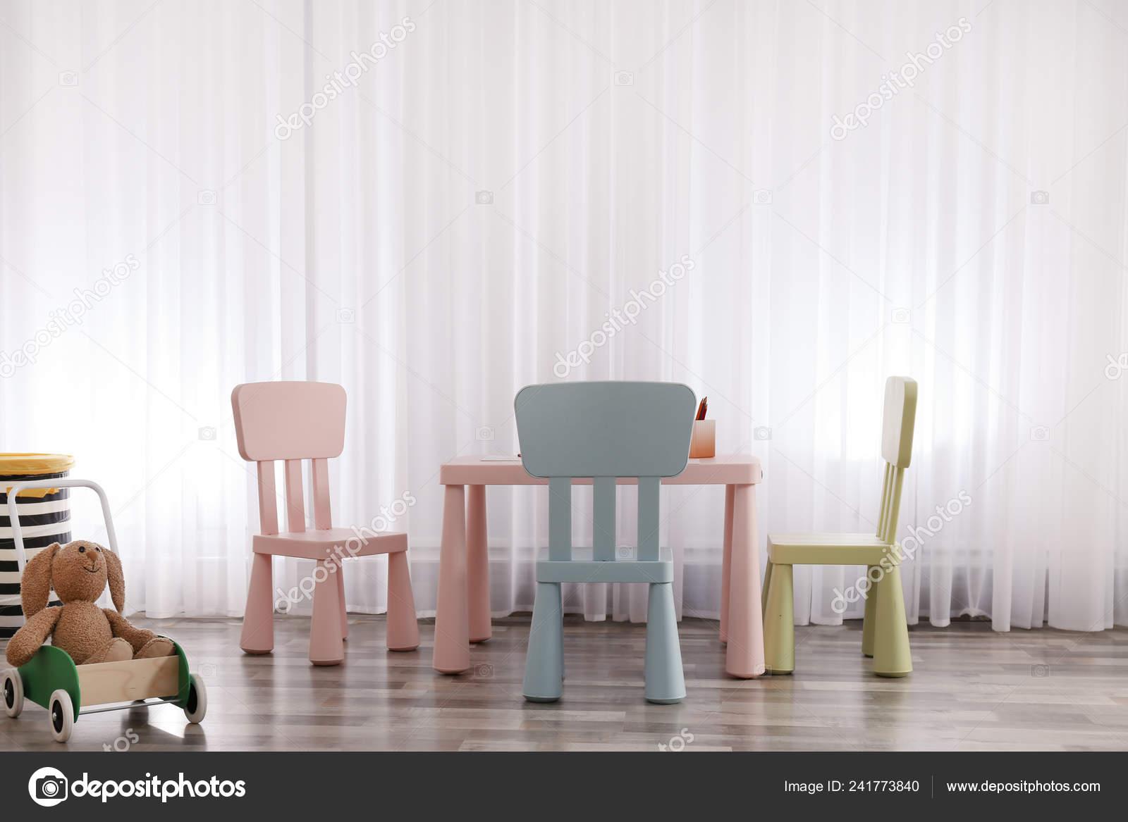 Picture of: Modern Child Room Interior Table Chairs Stock Photo C Liudmilachernetska Gmail Com 241773840