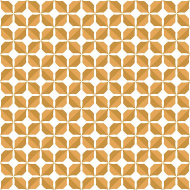 Abstract Brown Decorative Tile. Geometric Ginkgo Seamless Pattern.