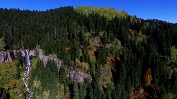 Zobrazit podzimní les s řekou