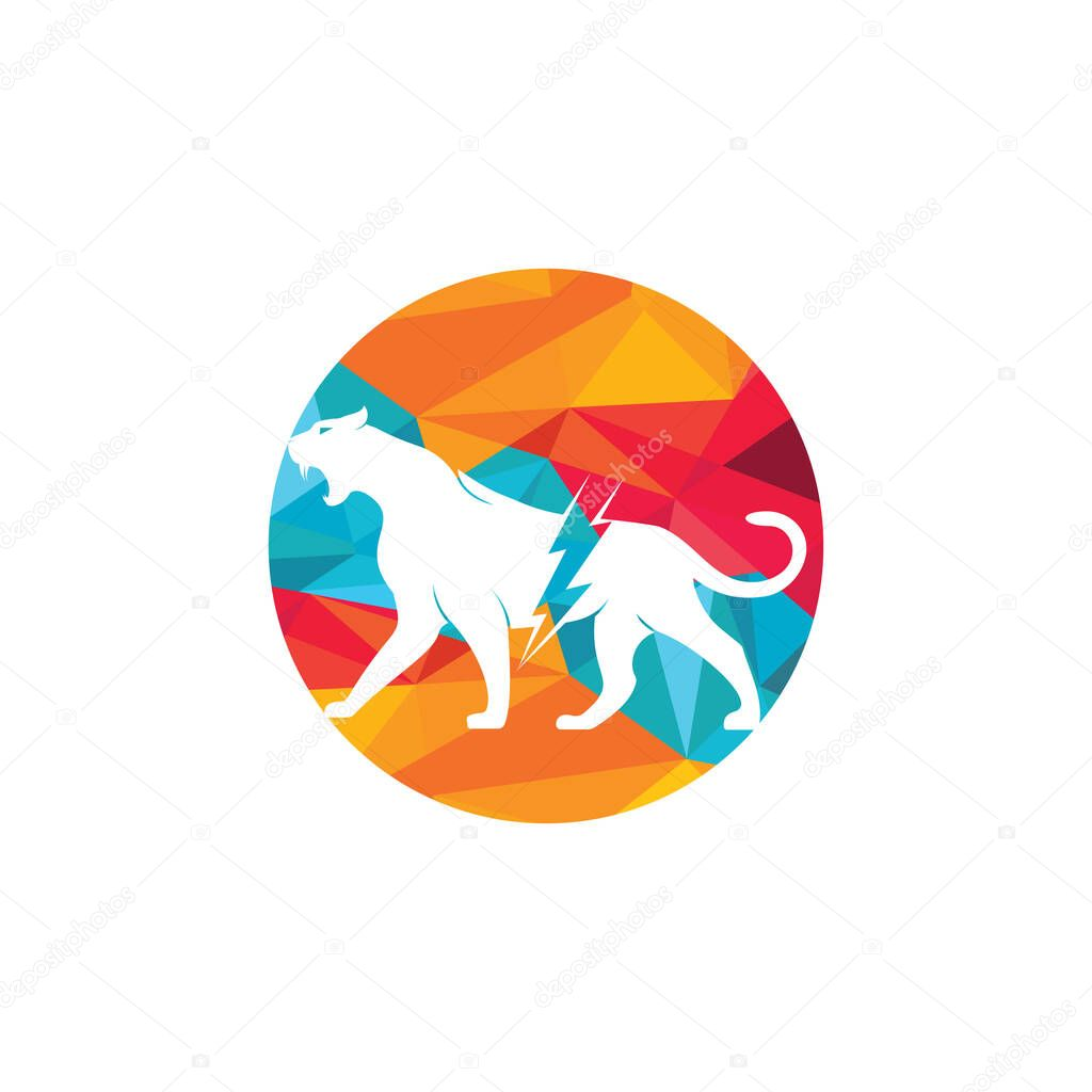 cheetah thunder vector logo design cheetah electric energy logo vector design premium vector in adobe illustrator ai ai format encapsulated postscript eps eps format wdrfree