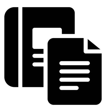 Writing papers icon vector