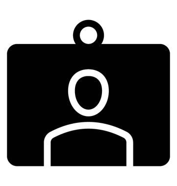 Id card vector icon, glyph vector