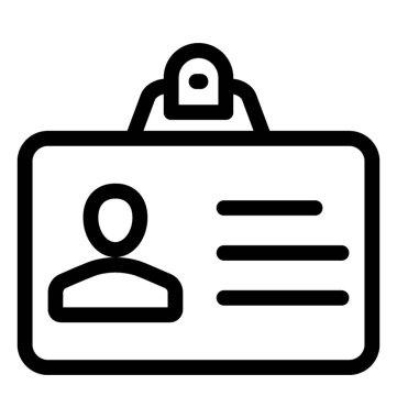 Id card vector icon, line vector