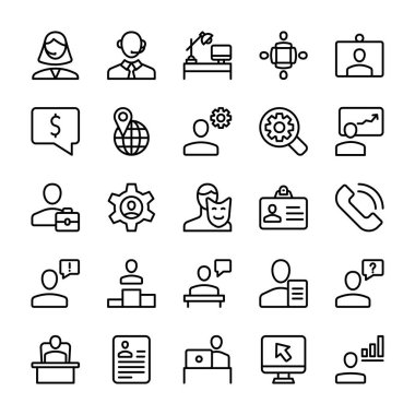 If you are looking for any business related icons, don't go anywhere here are some amazing visuals of meeting, workplace, line icons pack to meet your business needs. Hold this set and use in related department.