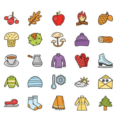 Weather, Foods and Holiday Icons Pack icon