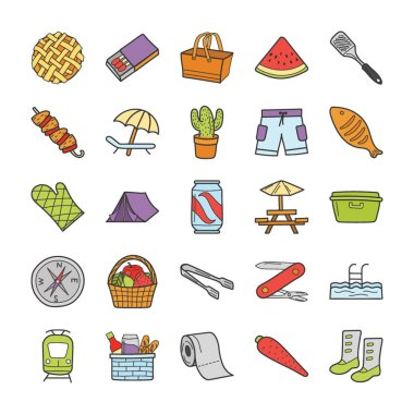 This is a picnic, travel, and holiday icons collection, this pack consist of amazing icons that can be used in web designing and other related projectects, so feel free to grab this pack. icon