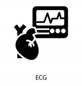 Az EKG-ikon tömör vektorban