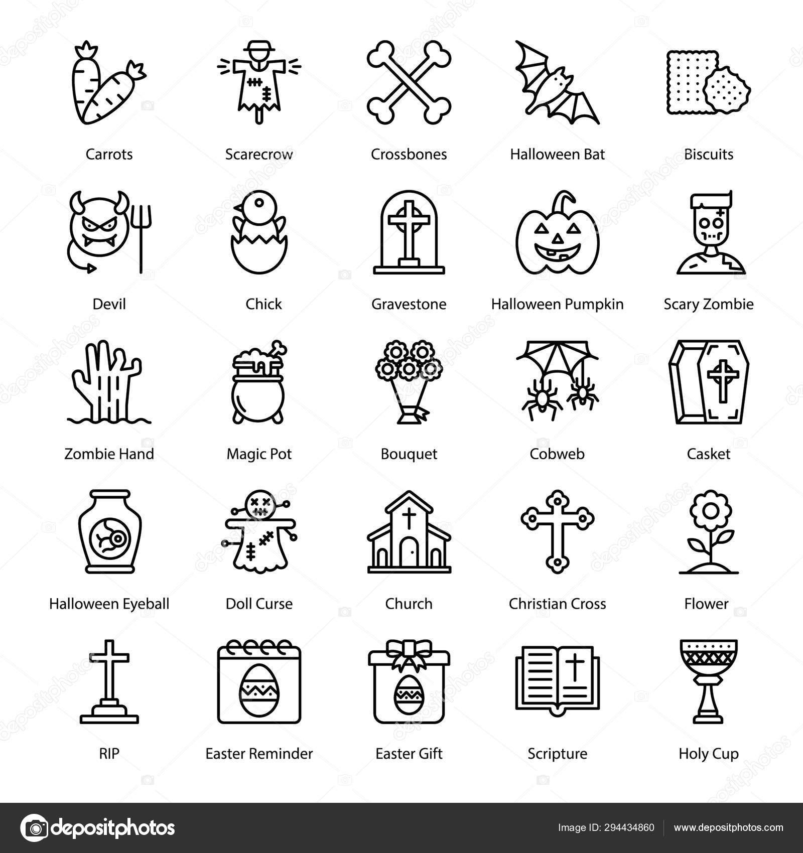 Here Set Hobbies Icon Line Design Just Grab Editable Pack Stock Vector C Vectorspoint 294434860