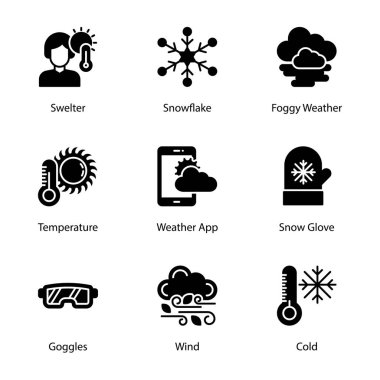 Weather climate solid icons pack having mesmerizing and eye soothing icons are here to enchant you in better way with these editable quality visuals. Weather forcast visuals are her. Hold it now! icon