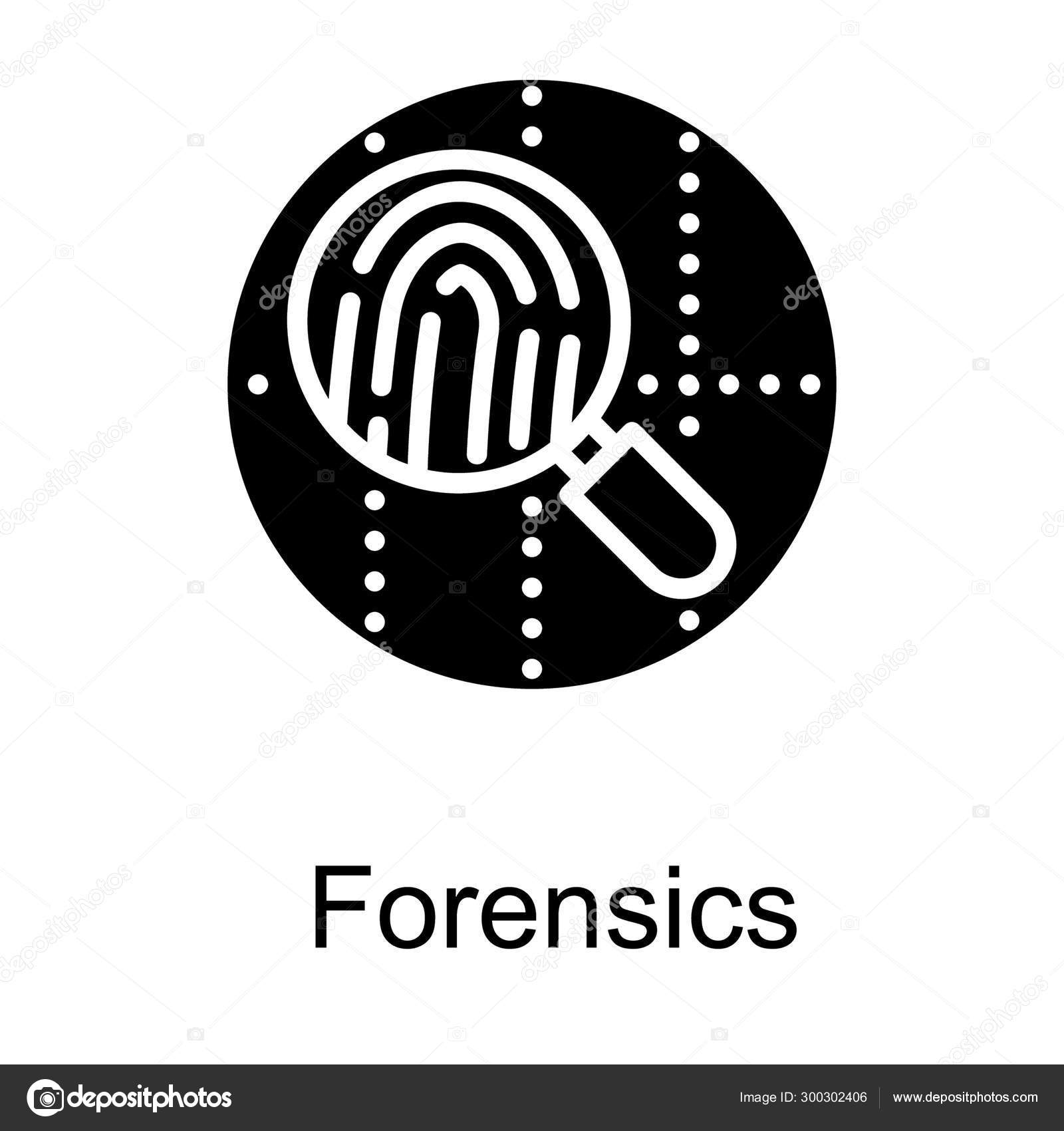 Forensic Logo Solid Design Stock Vector C Vectorspoint 300302406