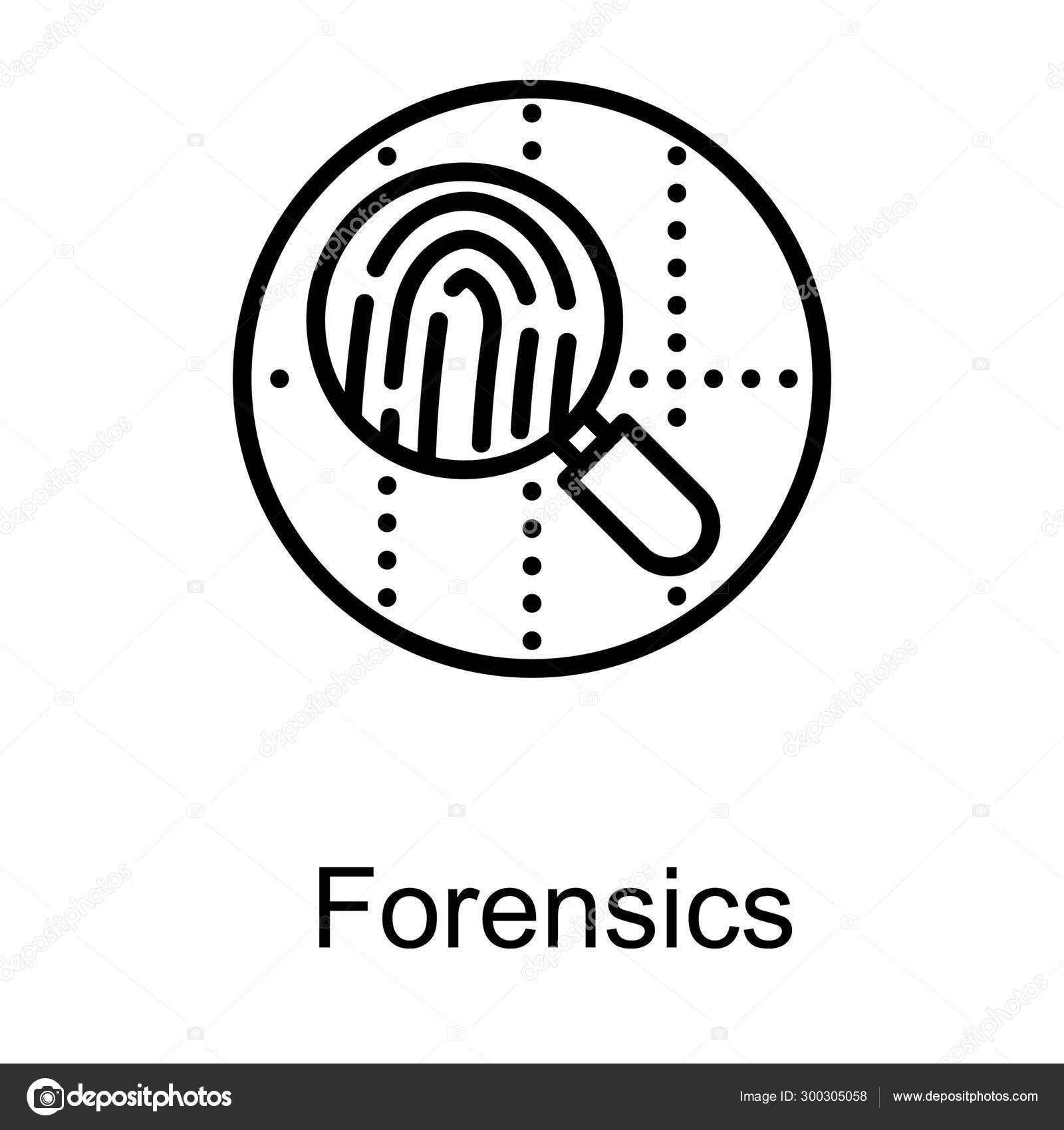 Forensic Logo Line Design Stock Vector C Vectorspoint 300305058
