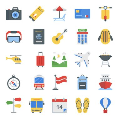 Let's make a fantastic project for you! Picnic flat icons pack is here to make your project worthy for upcoming assignments. Edit and use vectors and explore graphic industry well. icon