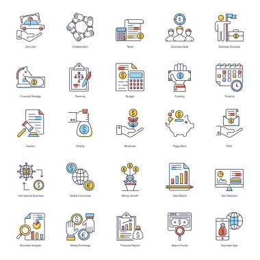 Online Business flat Icons Pack icon