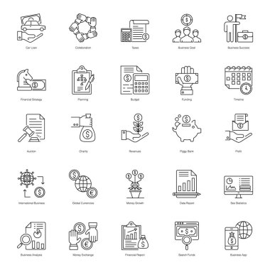 Online Business Line Icons Pack icon