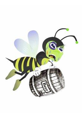 Bee drunkard loves beer