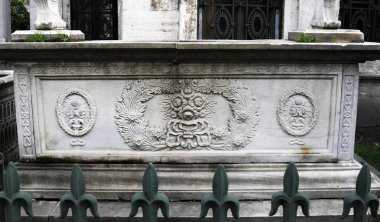 Tomb stones were remain from Ottoman era.Each made by marble.Engraved flower and fruits motifs can seen on the most of them.