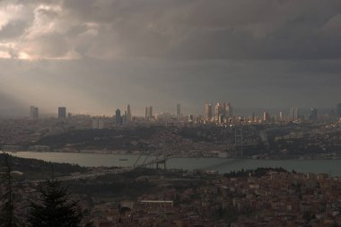 Sunset view from the highest point of Istanbul city,named Camlica.