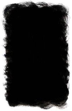 Black and white grunge border