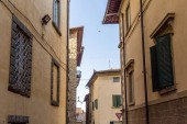 urban scene with historical architecture of Tuscany, Italy