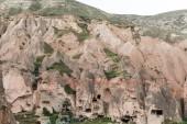 Photo aerial view of beautiful scenic landscape in cappadocia, turkey