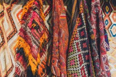 Old traditional Turkish carpet shop in cappadocia, turkey stock vector