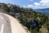 Fotografie winding road in beautiful scenic mountains, provence, france