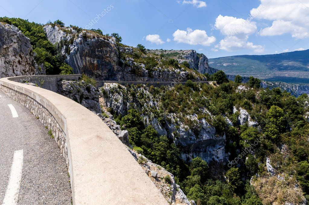 winding road in beautiful scenic mountains, provence, france