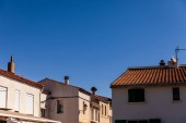 beautiful traditional architecture and blue sky in provence, france
