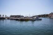 AVIGNON, FRANCE - JUNE 18, 2018: luxury yachts and boats in port at sunny day, Avignon, France