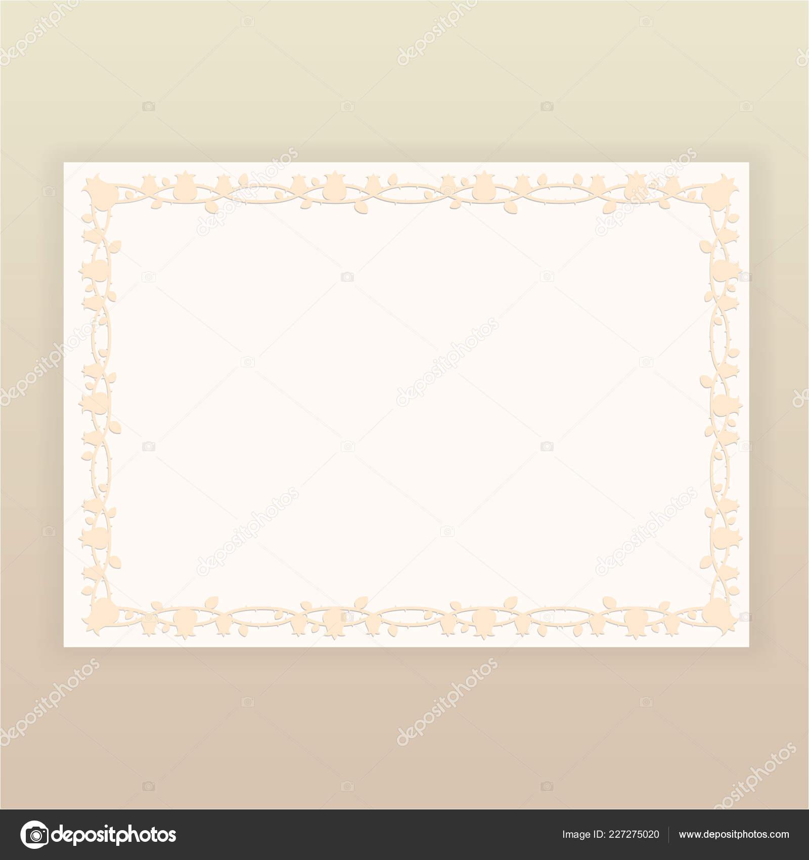 Floral Border Beige Page Template Web Print Tulip Patterns