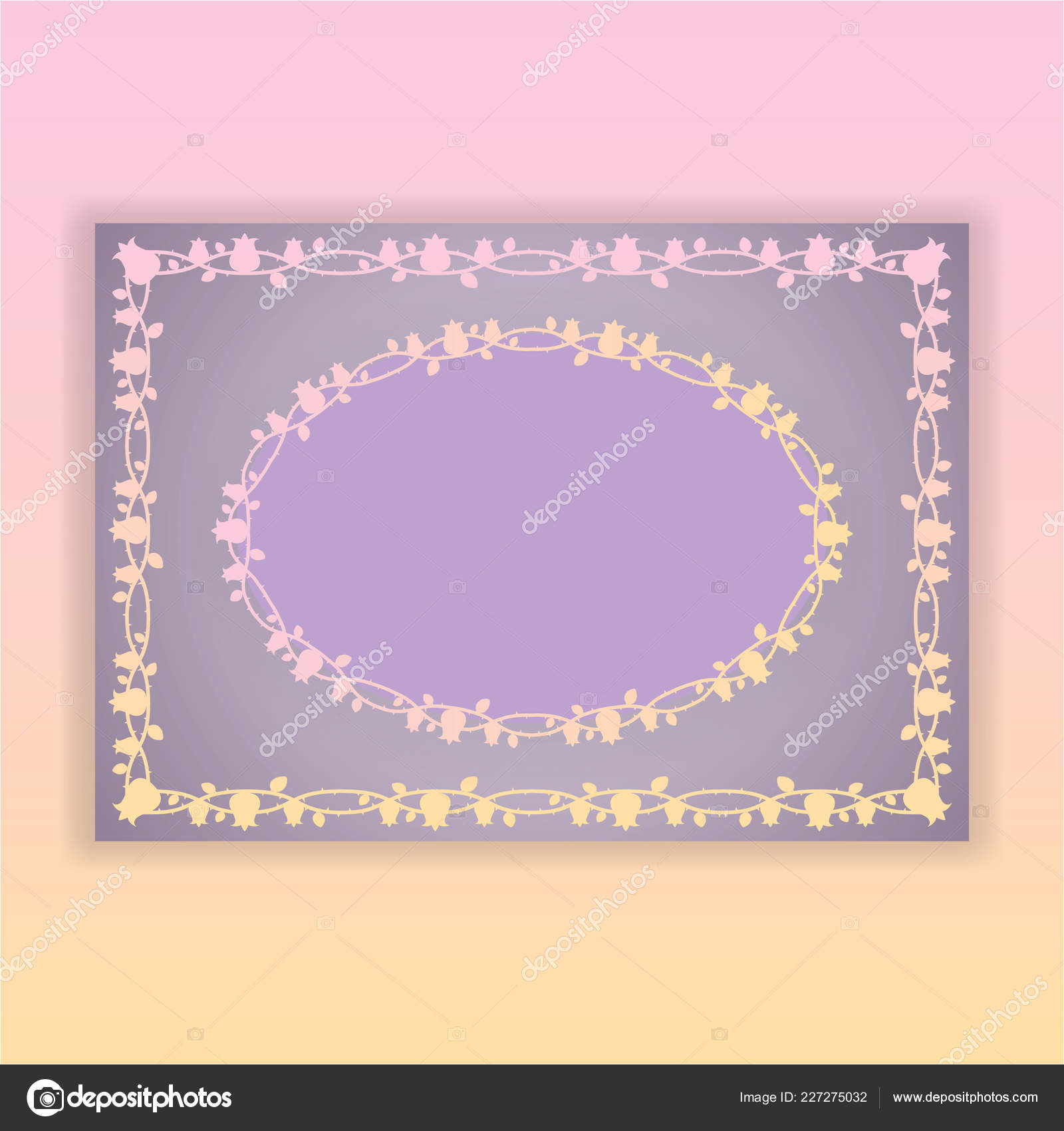 Floral Borders Page Template Web Print Tulip Patterns