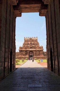 Rajarajan Tiruvasal seen through Keralantakan Tiruvasal, Brihadisvara Temple, Tanjore, Tamil Nadu, India