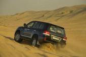 Duna napadání, pouštní Safari v džípu, Dubaj Spojené arabské emiráty