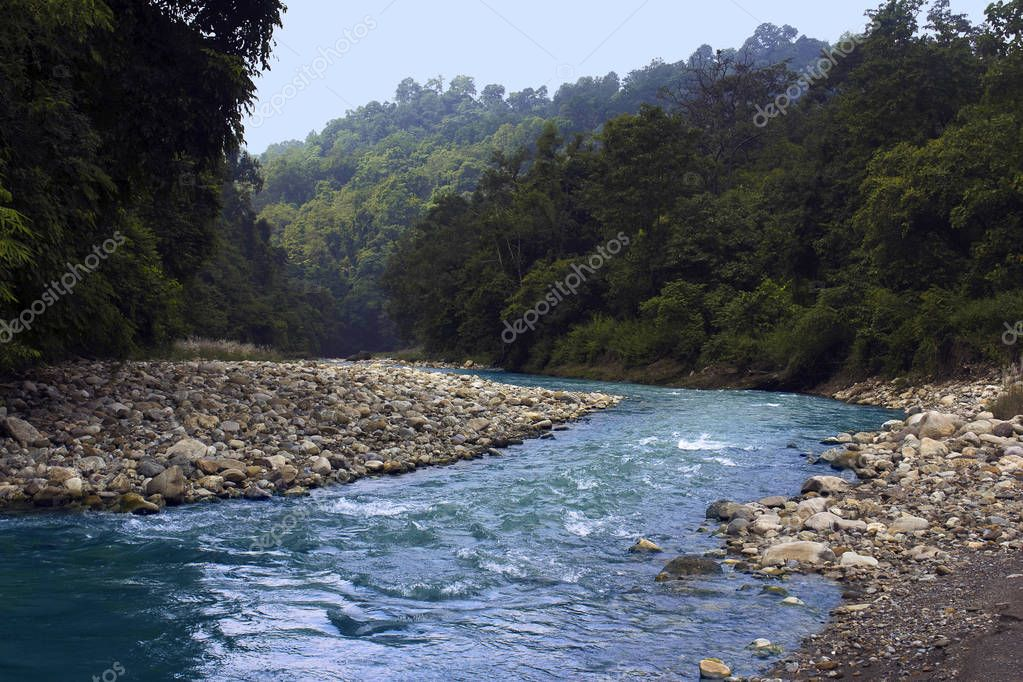 Khichdi river at Corbett Tiger Reserve from Uttarakhand state of India