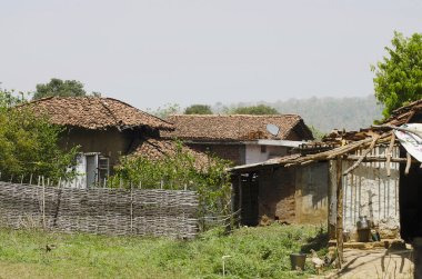 A village, Nagzira Tiger Resort, Nagzira Wild Life Sanctuary, Bhandara, Near Nagpur, Maharashtra India