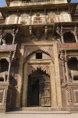 Exterior view of Jahangir Mahal Palace. Orchha fort complex. Orchha. Madhya Pradesh. India