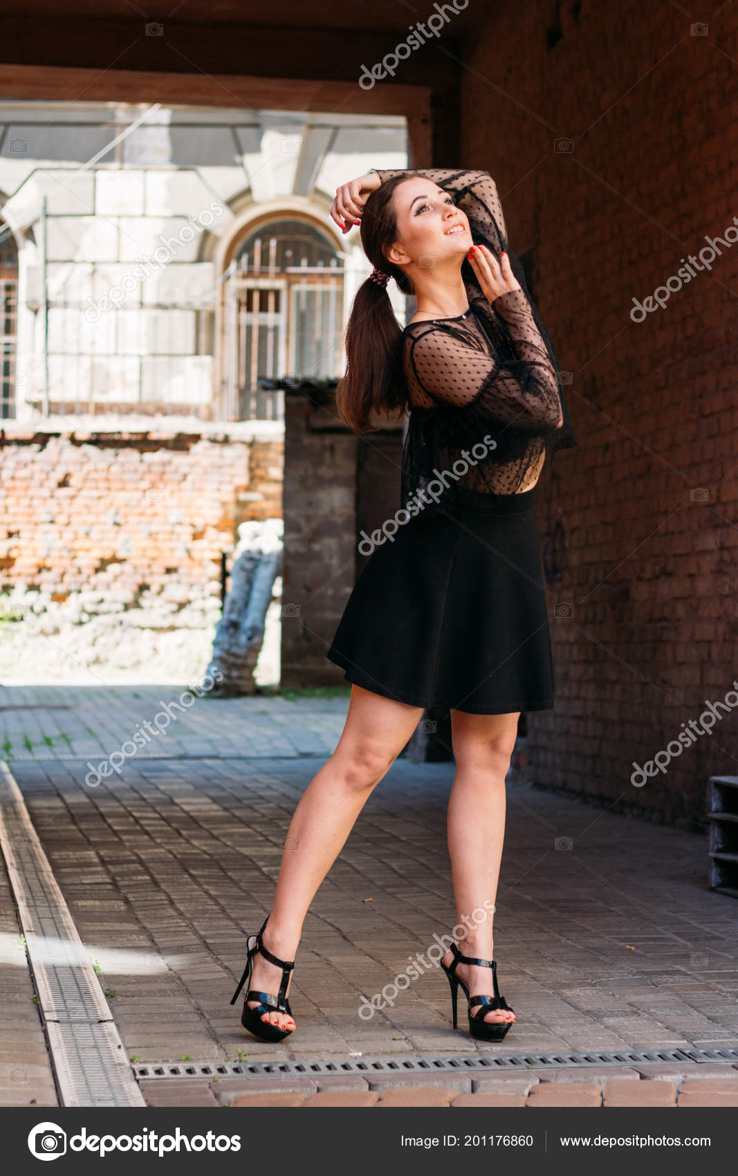 3e361340ae0 Girl Posing Smiles Emotional Portrait Fashion Stylish Portrait ...